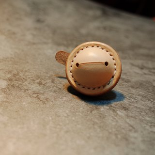 Handmade Leather Bell, 30mm, Natural color