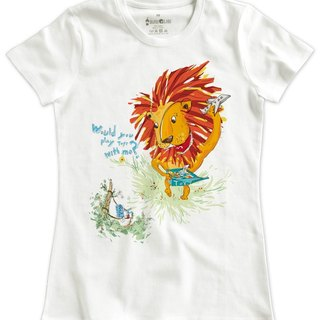 Classic white short-sleeved T-shirt _Would you play toys with me? (Female M out of stock)
