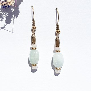 <Lucky Aquarius> Tianhe Stone Powder Crystal Brass Earrings Minimalist Geometric Personality Valentine's Day