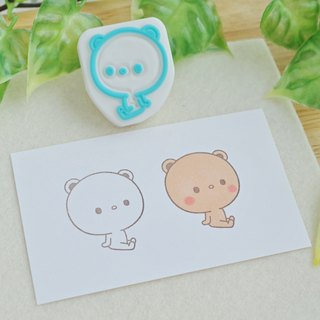 Sitting bear stamp