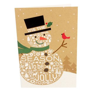 The snowman is full of wishes for the Christmas card [Hallmark-card Christmas series]
