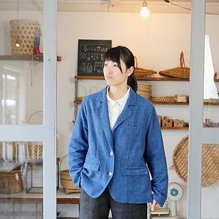 Ethical Hemp Tailored Style Jacket Japanese Indigo Dyeing