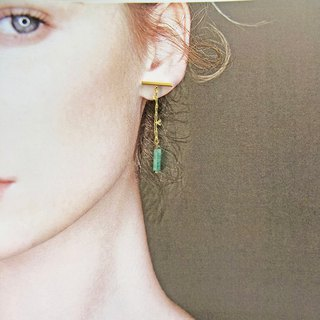 Minimalism - Jade 14kgf Earrings【Bamboo】【Wedding】【elegant earrings】