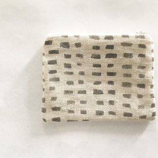 Moshimoshi | Small linen bag - Grey squares