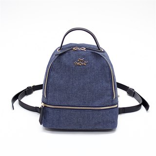 Aristocat 3 Ways Waterproof Heavy Denim Mini Backpack / Black , Blue
