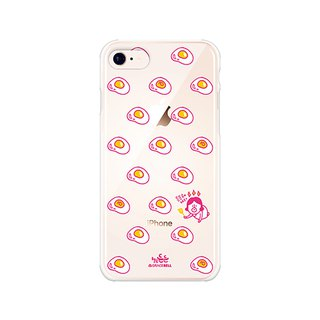 Hello DunDun 啰Dengden series transparent jelly mobile phone soft shell 08. poached egg