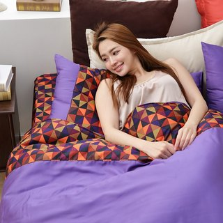 (Double) Amethyst Lovers - 60 Cotton Dual Bed Pack Four Pieces [Double Size 5*6.2 Feet]
