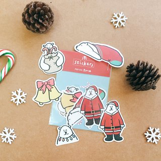 Christmas / Christmas sticker pack with bear