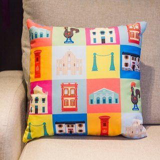 Macau characteristic elements parquet square pillow Cushion
