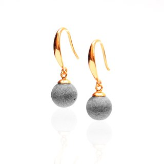 Mini Moon Cement Earrings (Ear Hook Style) | Planet Series