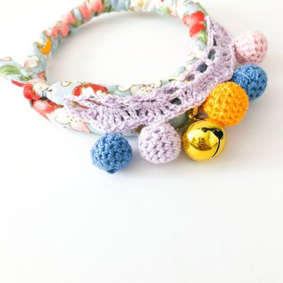 -Pet Series - Hand-knitted wave pet collar - Japanese style cloth