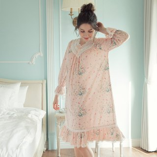Home service European style lace princess dress - pink print