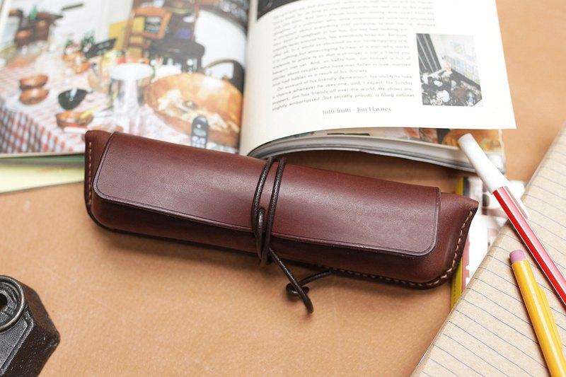 【手作課程 - 膠囊筆盒】 手工皮件 | 文具 | 客製 | 禮物 | 禮盒