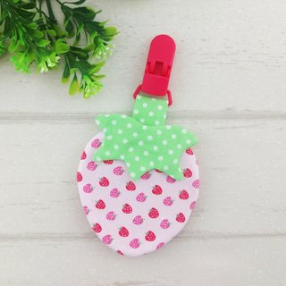 I am beaming. Strawberry shape peace bag (can be added 40 embroidery name)