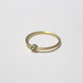 Tourmaline silver ring (Gold color)