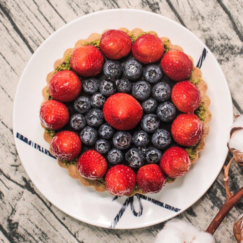 草莓巧巧 (草莓生巧克力塔) 6吋