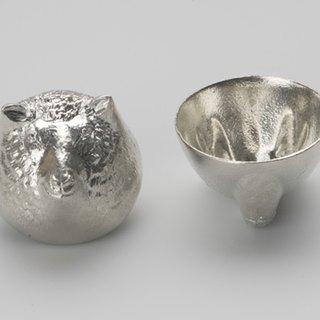 Pure tin zodiac shape cup (sheep)