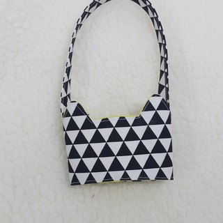 Small Triangle / tri-color cat ears with eco-friendly drink cup bag / double-sided available