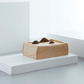 Fade Wooden Napkin Box /Black Walnut
