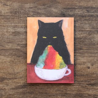 Postcard Rainbow ice cat