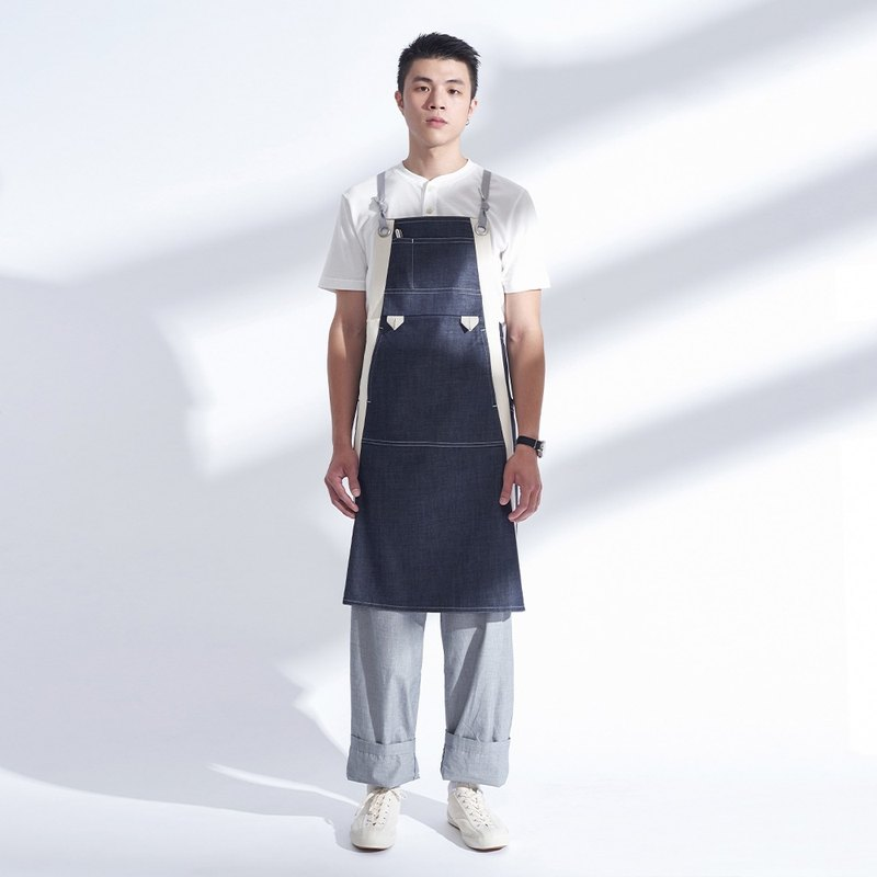 Rin City Apron ACE - cowboy 6 pocket cotton spill-resistant workwear