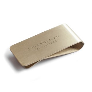 LIVING WELL - USA Izola brass banknote holder