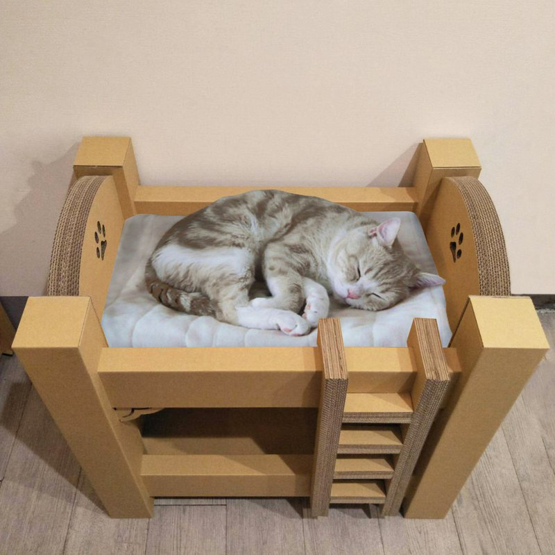 【Cat at home】Cats Bunk Bed   Cat house / Pet / Storage