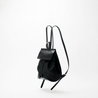Bodhi said FOSTYLE first layer textured leather stitching bucket shoulder bag handmade B06 black kangaroo backpack