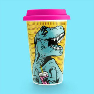 British Mustard double insulated cup - Tyrannosaurus is also thirsty
