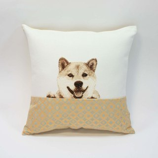 Embroidery small pillow 09- Shiba