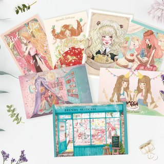 Combination - illustration postcard - 4 in1 Kit