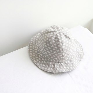 Grey x Dark Khaki - Handmade Bucket Hat | Double sided