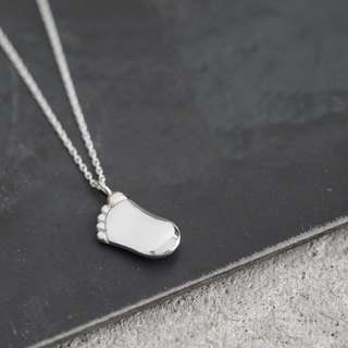 Foot men's necklace silver 925