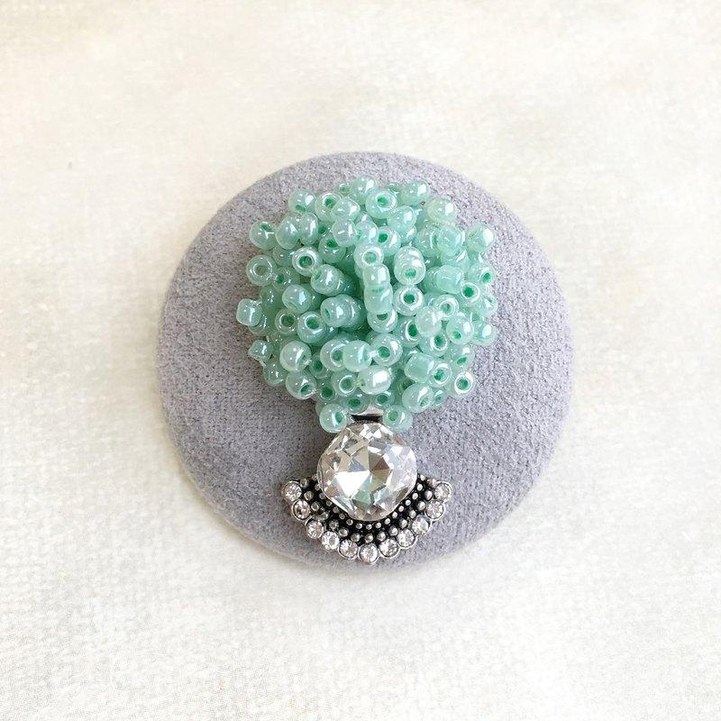復古系列胸針帽針 | 纍珠鑲圓鑽 | 交換禮物