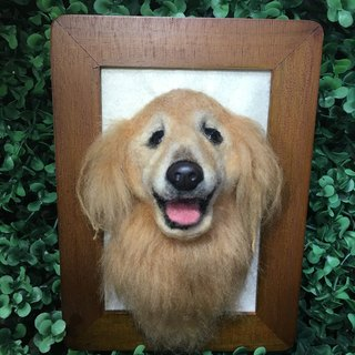 Semi-realistic furry sheep dog pet frame