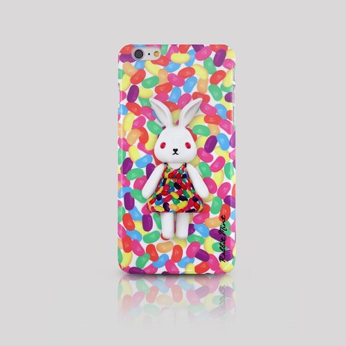 (Rabbit Mint) Mint Rabbit Phone Case - Bu Mali Candy Merry Boo Jelly Bean - iPhone 6 Plus (M0021)