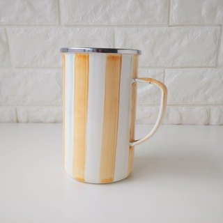 Orange Orange Stripe 珐琅 Mug | 650ml