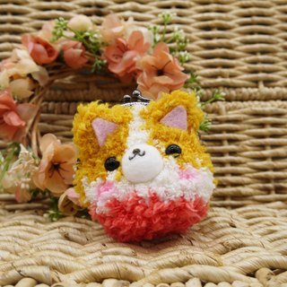 Knitting animal mini purse mouth gold package - Corky