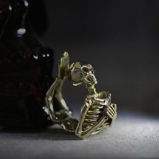 Human Skeleton Ring - Original Design by Defy / Statement Ring Jewelry