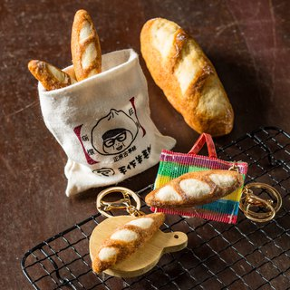 【Handmade wool felt】Baguette bread (magnet/pin/key ring variety optional)
