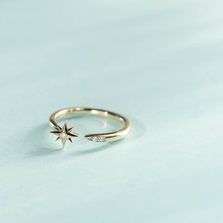 K14YG×Diamond 0.017ct / Sirius -Ring-