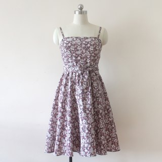 Handmade fashion floral red dress