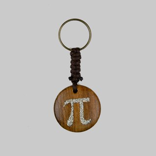 Wooden Pi Keyring Wood