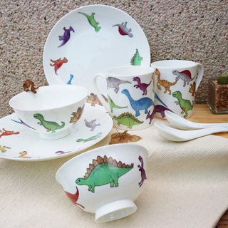 Christmas Gift / Mini Jubilee Cutlery Set Dinosaur / Parenting Bowl
