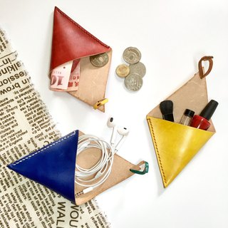 Triangle Leather Coin Wallet