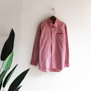 River Water Mountain - Niigata Classic Flames Red Fine Fine Autumn Time Antique Cotton Shirt Top Jacket