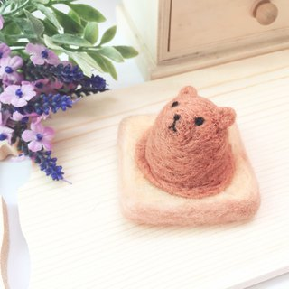 Woolfelting Ice-cream Toast_Chocolate bear