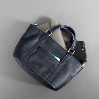 Passion Pouch Bag Blue Hand/Back/Shoulderback