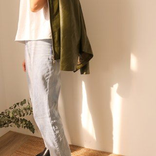 Jil Jacket Olive Green Leather Jacket (Old Fashioned)