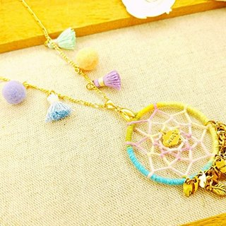 § HUKUROU§ fringed dream net necklace